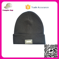 Trade Assurance 10 color in stock Custom your own led Knitted Beanie Hats plain beanie hat with led light