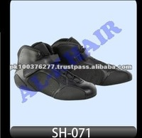 Men's Rubber Sole Genuine Leather Upper Go Kart Racing Shoes