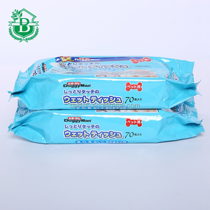 OEM service japanese wet tissue, cleaning non-woven individu pet wet wipe