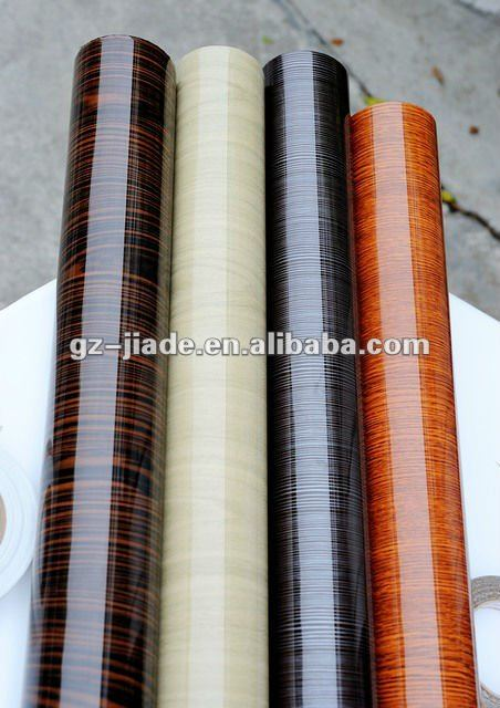 Solid Color, Wood Grain PVC Film (Matt or High Glossy Finish)