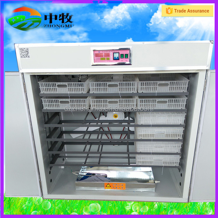 2000 eggs 3 years warranty CE large egg hatching machine price/poulty egg incubator