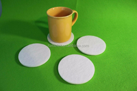 Hot selling factory direct elegant design eco-friendly wool felt coaster/mat /placemat for table deoration promotion