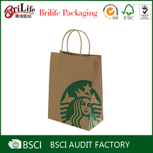 cheap take away craft paper shopping bags for gift wholesale