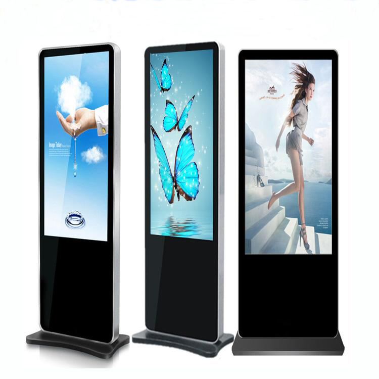 43/50/55/65inch Floor standing advertising display lcd with split screen