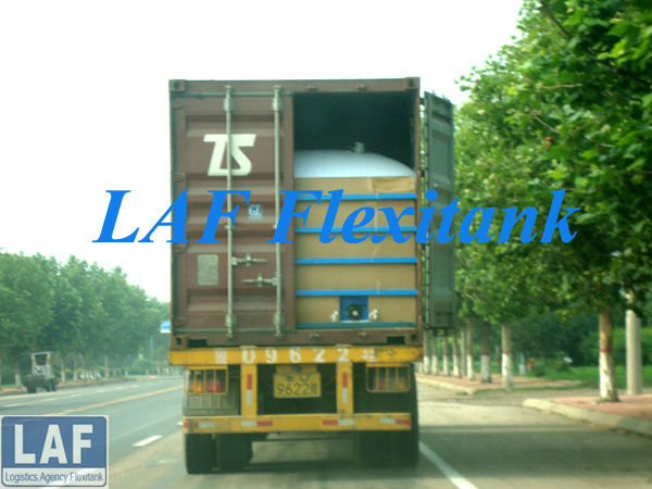 bulk liquid flexi tank for 20 ft container transport