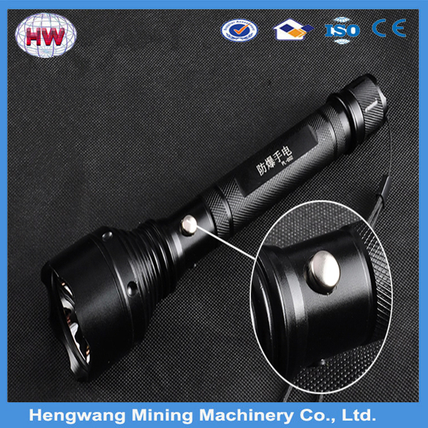 High power black led rechargeable explosion-proof emergency flashlight used for coal ming,caming, hunting