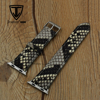 Jranter Handmade Real Python Leather Watch Strap