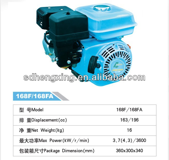 4-Stroke Gasoline Engine 168FA