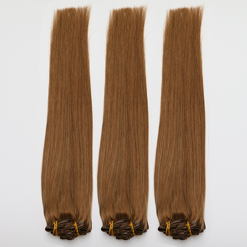 Double Side 100% real hair straight yaki hair extensions