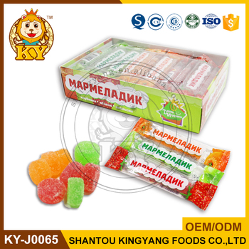 Kosher Sugar Coated Fruity Soft Gummy Jelly Candy