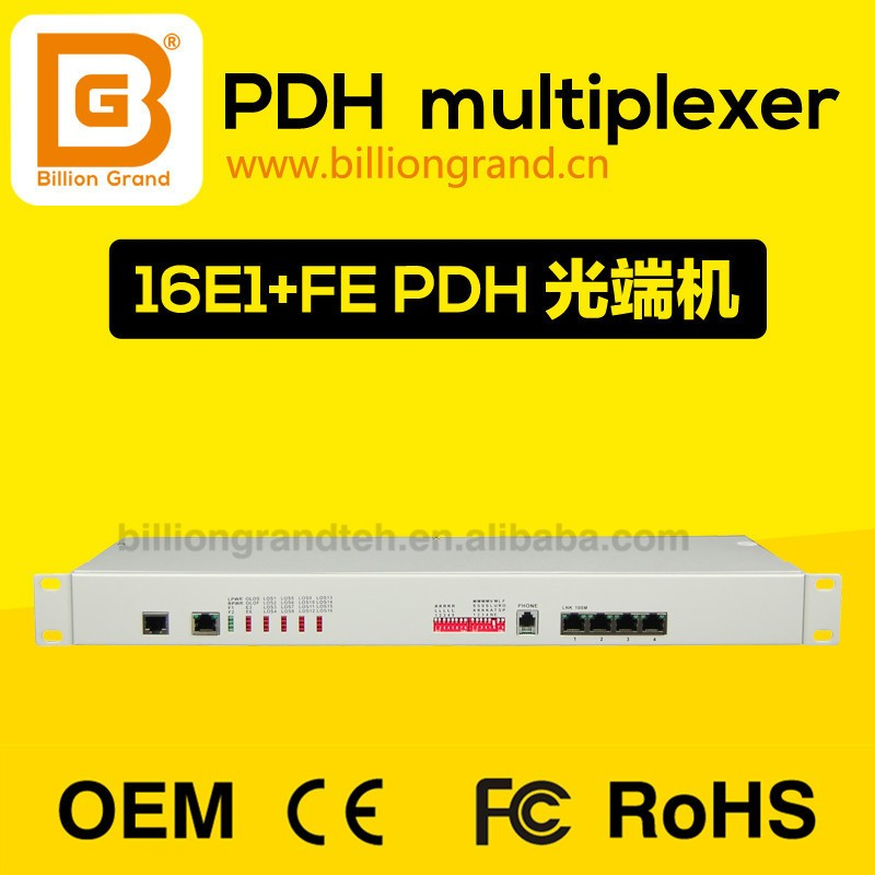 billiongrand E1 Over Fiber Optical Multiplexer 16 E1 FOM