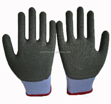 Latex coated glove cheap safety glove friction rubber gloves