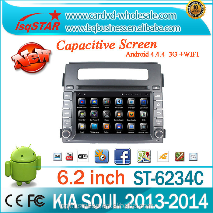 In dash android multimedia car DVD player with Navigation for KIA SOUL 2013-2014