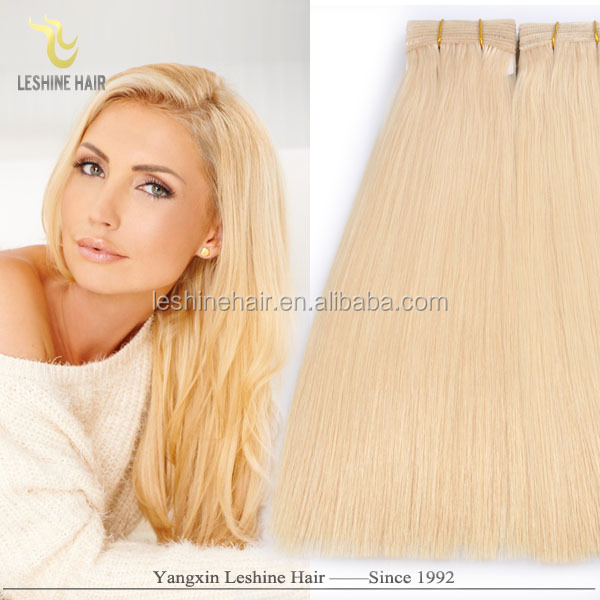 2016 Top Quality Wholesale Remy Private Label 40-inch blonde indian hair extensions