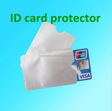 Wholesale-Free Shipping 1000pcs RFID blocking card protector Anti Theft Credit Card Holder Aluminum RFID card Sleeve