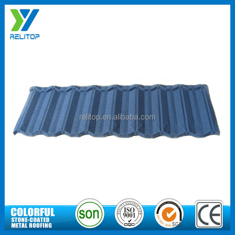 AL-zinc stone coated chip steel roof tile/roofing sheet