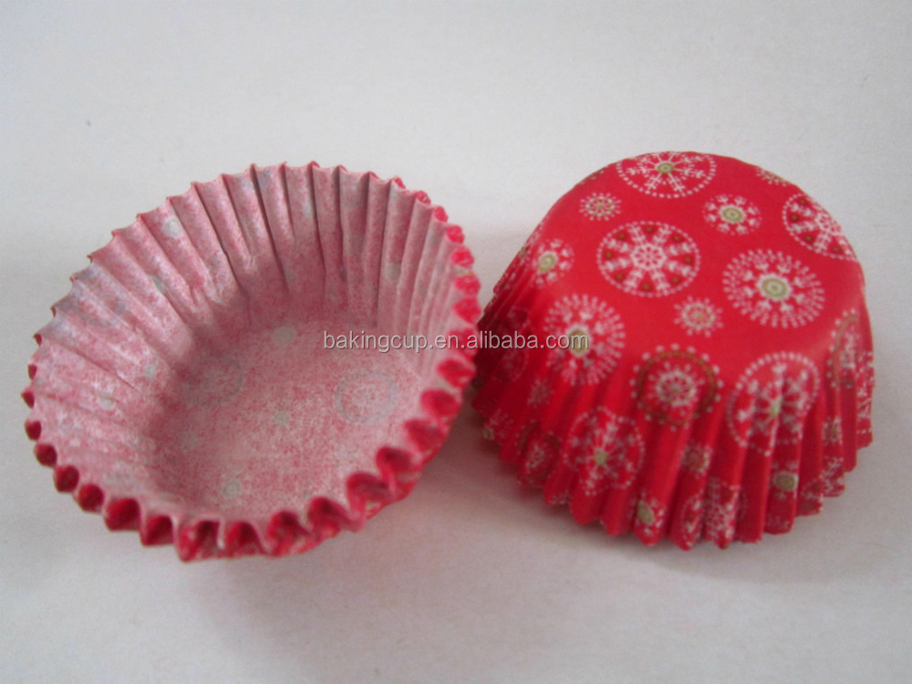 Christmas snow greaseproof paper muffin baking cup