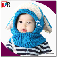 pretty cute toddier children crochet winter cap baby hooded hats