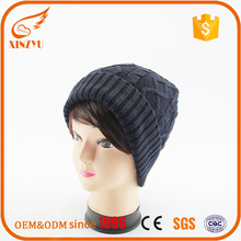 Beanie hats wholesale custom knit acrylic muslim knitted caps