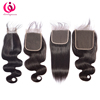 raw unprocessed straight body deep wave 7x7 invisible swiss silk transparent thin lace closure frontal and bundles
