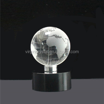 Wholesale Unique Crystal Mini World Globe With Base Trophy