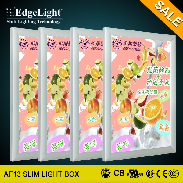 Edgelight Wholesale Price aluminum snap frame a4 acrylic certificate frame light box on sale