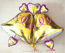 2014 new design bell shaped foil mylar balloons