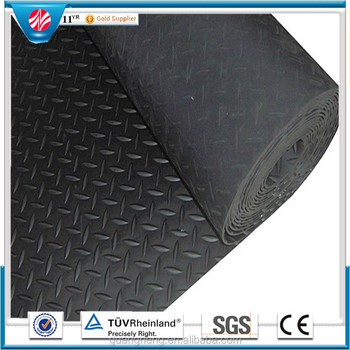 Easy to clean water proof Anti-fatigue Checker Plate anti-slip Arabesquitic SBR Material Rubber flooring