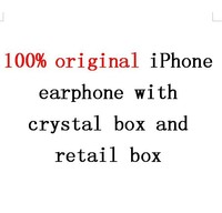DHL 100pcs/lot 2016 100% original genuine Headphone for iPhone 6/6s Earphone with Mic & Volume Control with retail box