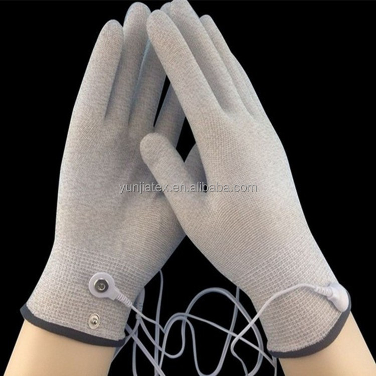 silver coated conductive fiber yarn for SPA gloves /touch screen gloves