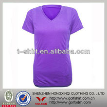 women slim fit V neck t shirts sports wear