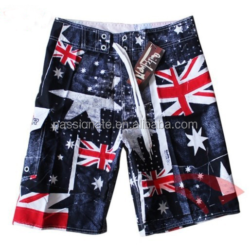 2014 New Fashional Design Customer Design Printing Unique Mens Canadian Flag Board Shorts