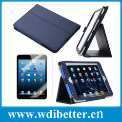 Portable and convenient PU leather case with camera hole for Ipad 2 3 4