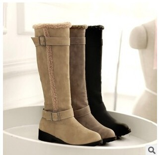 C64008A women's high quality Low heel snow knee boots