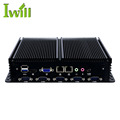 2018 mini industrial pc baytrial J1900 intel mini pc quad core CPU support win10 fanless 2 RJ45