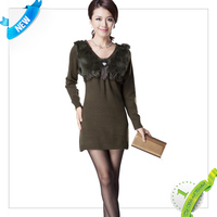 quality front short back long woolen sweater new designs for ladies with low price