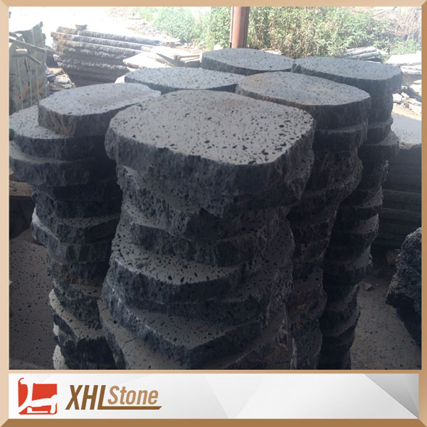 Irregular Black Lava Stone Brick For Garden
