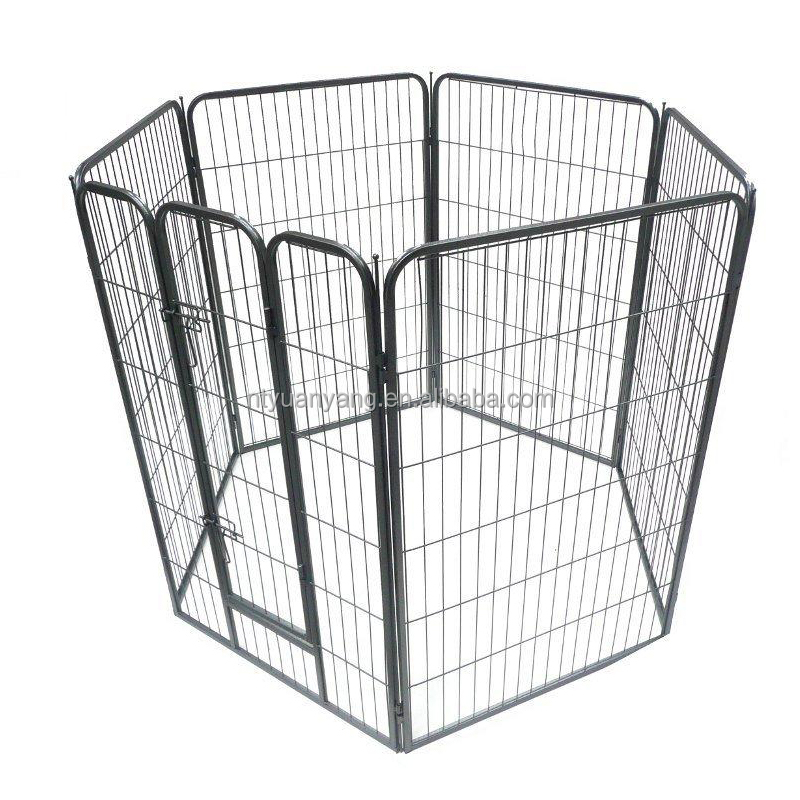 metal pet enclosure puppy playpen with 6-8 fences for pet exercise