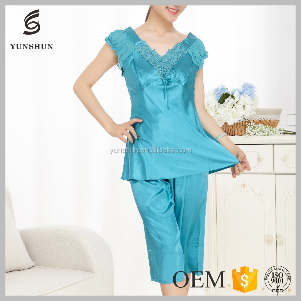 Lace nightwear two pieces set adult romper pajamas onesie