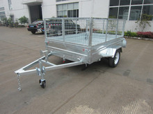 hot selling aluminium box trailer with cage