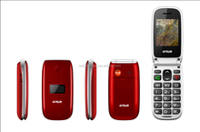 low price china mobile phone 2.2 inch big boutton with SOS FM Radio Flip phone for old people