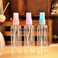 150ml bullet shape clear PET plastic strong hold hard gel spray bottle, 150ml facial gel bottle with spray