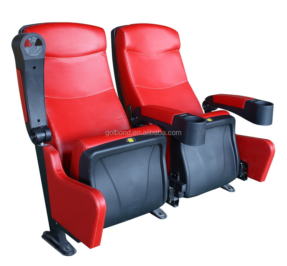 Modern Home Theater Chair With Cup Holder/Theater Fabric Cinema Chairs/Folding Theater Seats