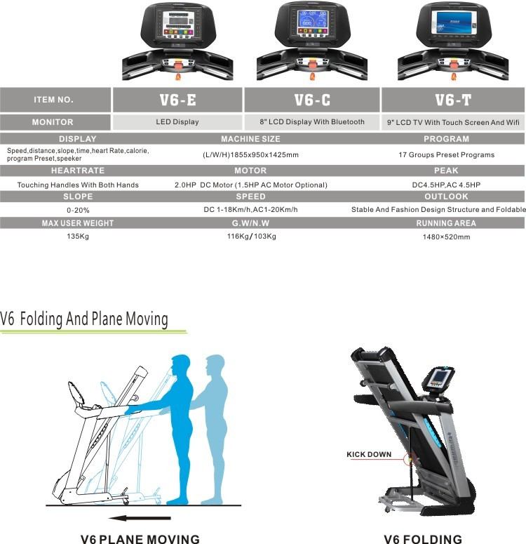 LUXURY HOME TREADMILLS V6-C