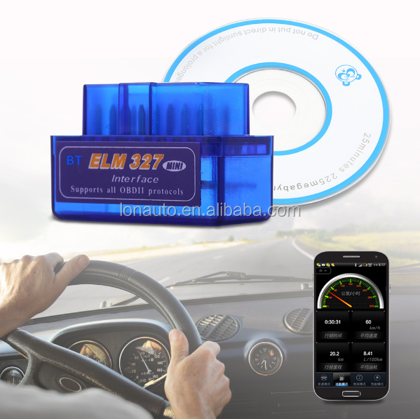Ex-factory price! free obd2 scanner software bluetooth elm327/elm 327 obd2/obdii v1.5 adapter auto diagnostic tool of blue