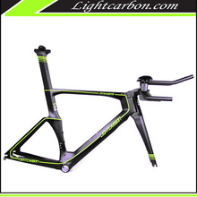 LightCarbon bicycle frame tt aero design time trial carbon bicycle frameset LCTT001
