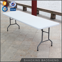 8FT HDPE top furniture white plastic blow mold rectangle folding dining tables
