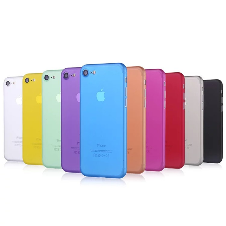2017 New coming colorful soft matte cover for iphone 7 full cover pp case