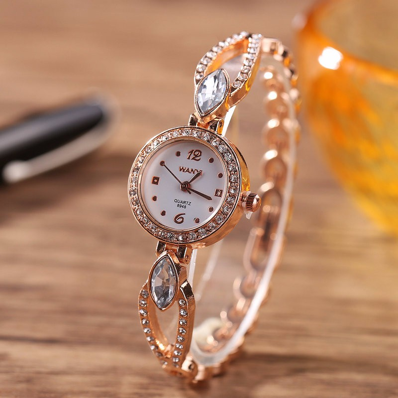 Sloggi new zircon alloy bracelet quartz watch women crystal fashion round head bracelet watch