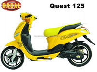 Quest 125 Fashionable gas moped with pedals,2seat mobility scooter for sale,best sale two wheel scooter